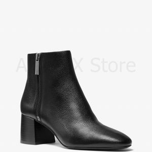 NWT Michael Kors Alane Pebbled Leather Ankle Boot